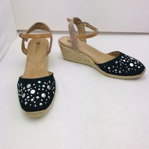 White Mountain Solar Espadrille Wedges